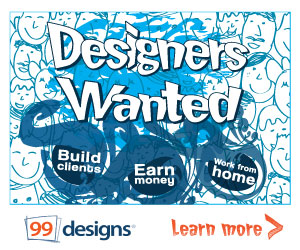Designers make money with 99designs!