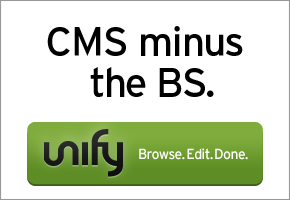 Try Unify: The simple content editor anyone can use.