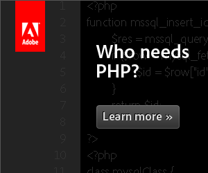 Who needs PHP? Learn more >>
