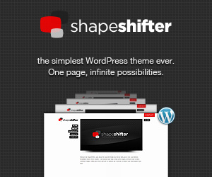 ShapeShifter WordPress theme! One page, infinite possibilities.