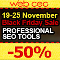 Web CEO Solutions for SEO & Site Promotion - 50% off until November 29, 2012