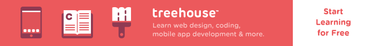 Start learning web design, web development, mobile, and much more for free at Treehouse