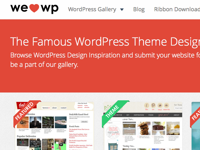 WeLoveWP - Design Gallery