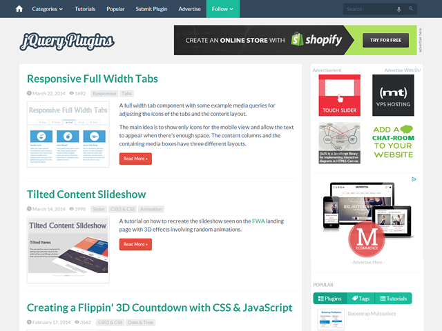 Advertise on jQuery Plugins | BuySellAds