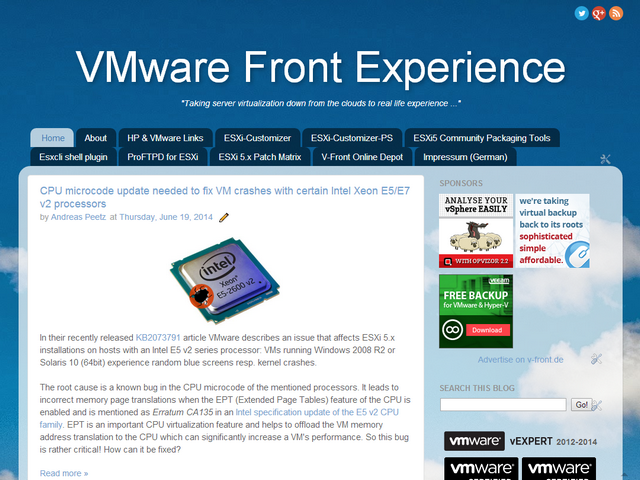 VMware Front Experience