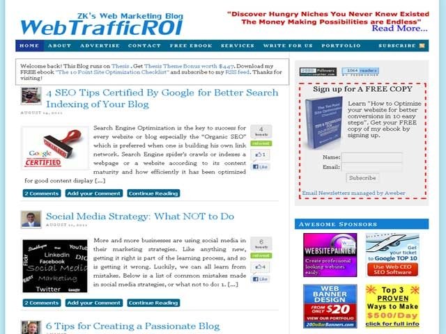 WebTrafficROI