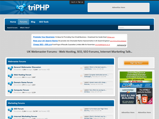 Triphp Webmaster SEO Forums